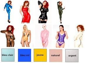 Coloris de contraste latexa